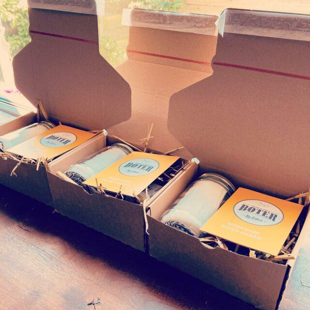 Pakketten voor boter maken